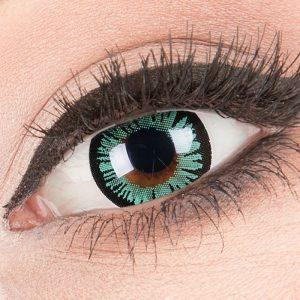Big Eyes Lustrous Green Lenzen (15mm)